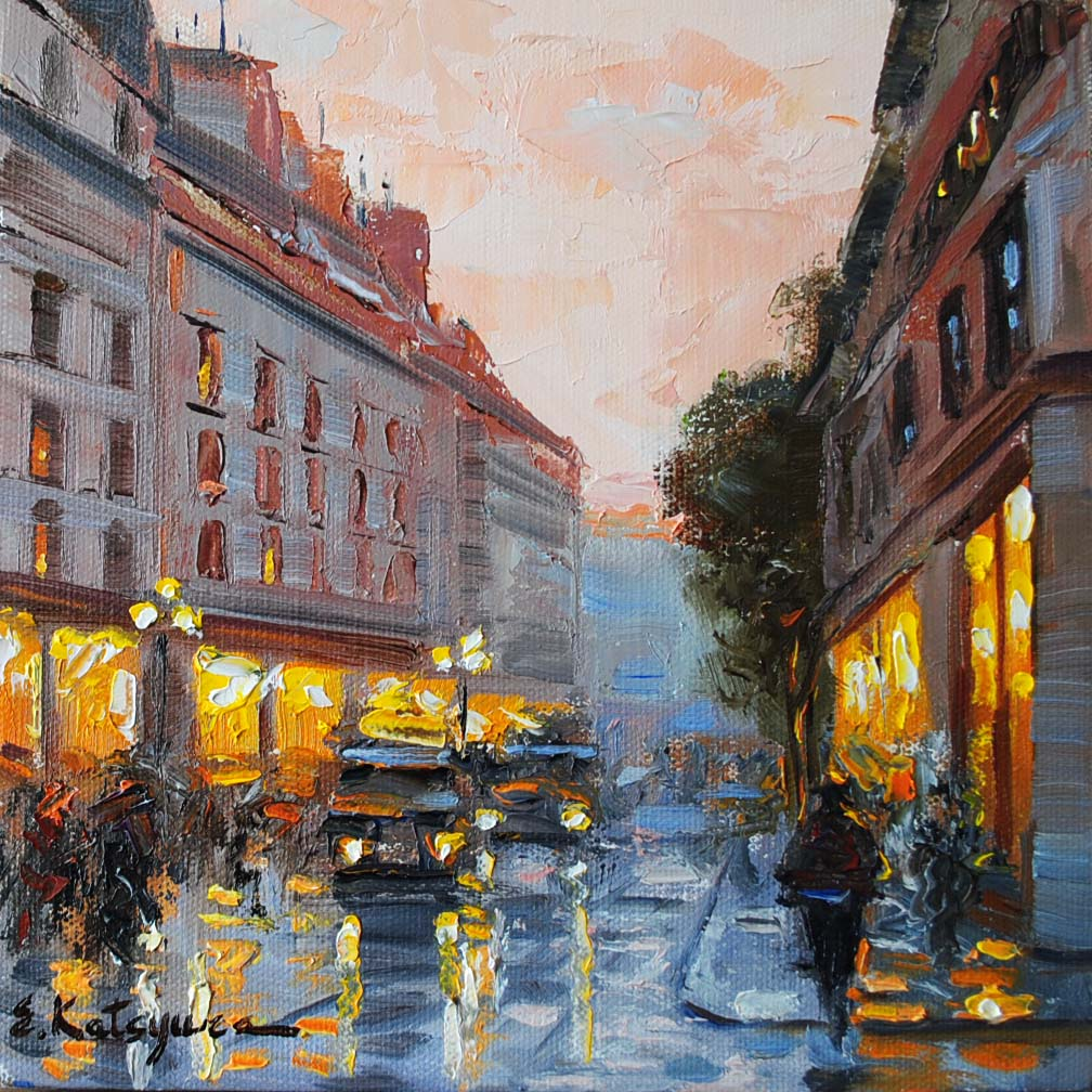 """""""Paris Memories III"""" original fine art by Elena Katsyura"""
