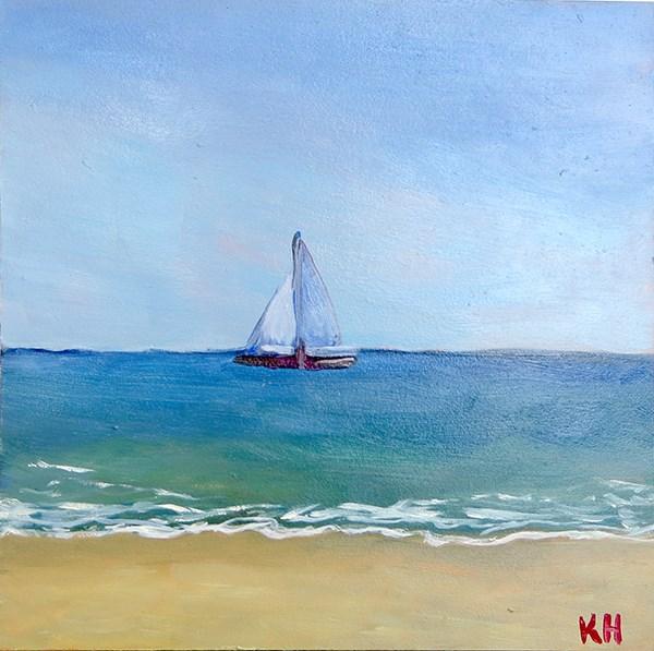 """The Tide Is High"" original fine art by Katherine Hambley"
