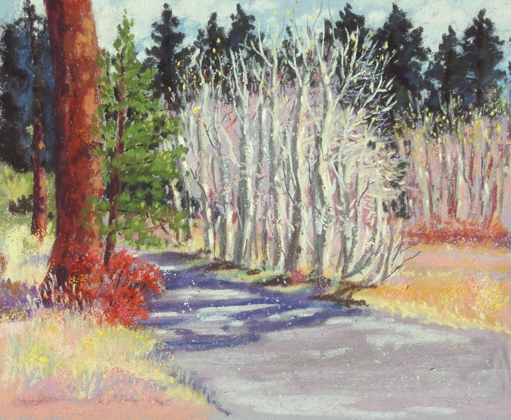 """""""Tahoe Aspens, Late Fall"""" original fine art by Rhett Regina Owings"""