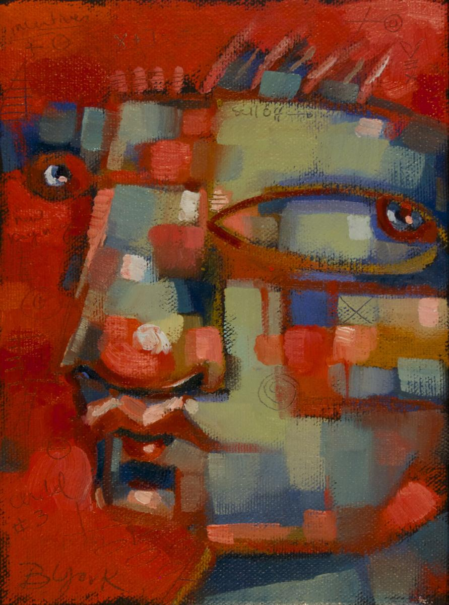 """Crybaby Red"" original fine art by Brenda York"