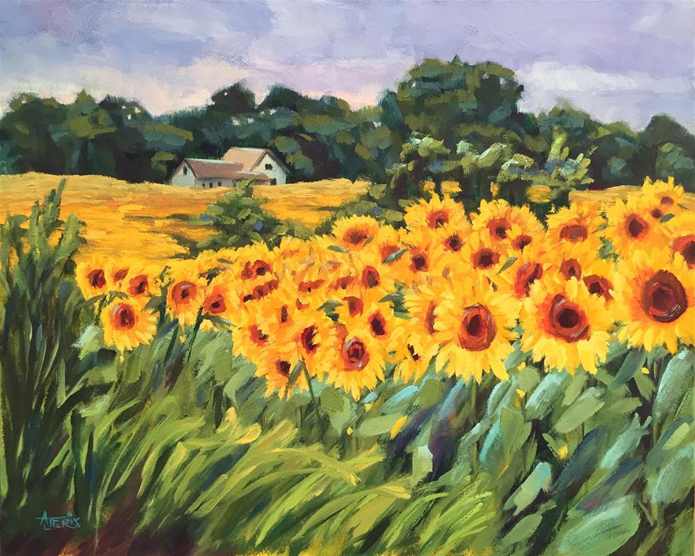 """Fields and Fields of Sunflowers"" original fine art by Andrea Jeris"