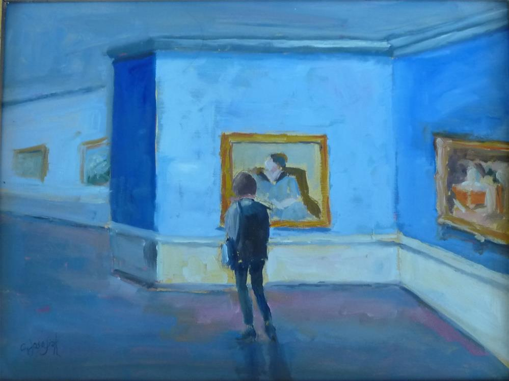 """Day at the Museum"" original fine art by Carol Josefiak"