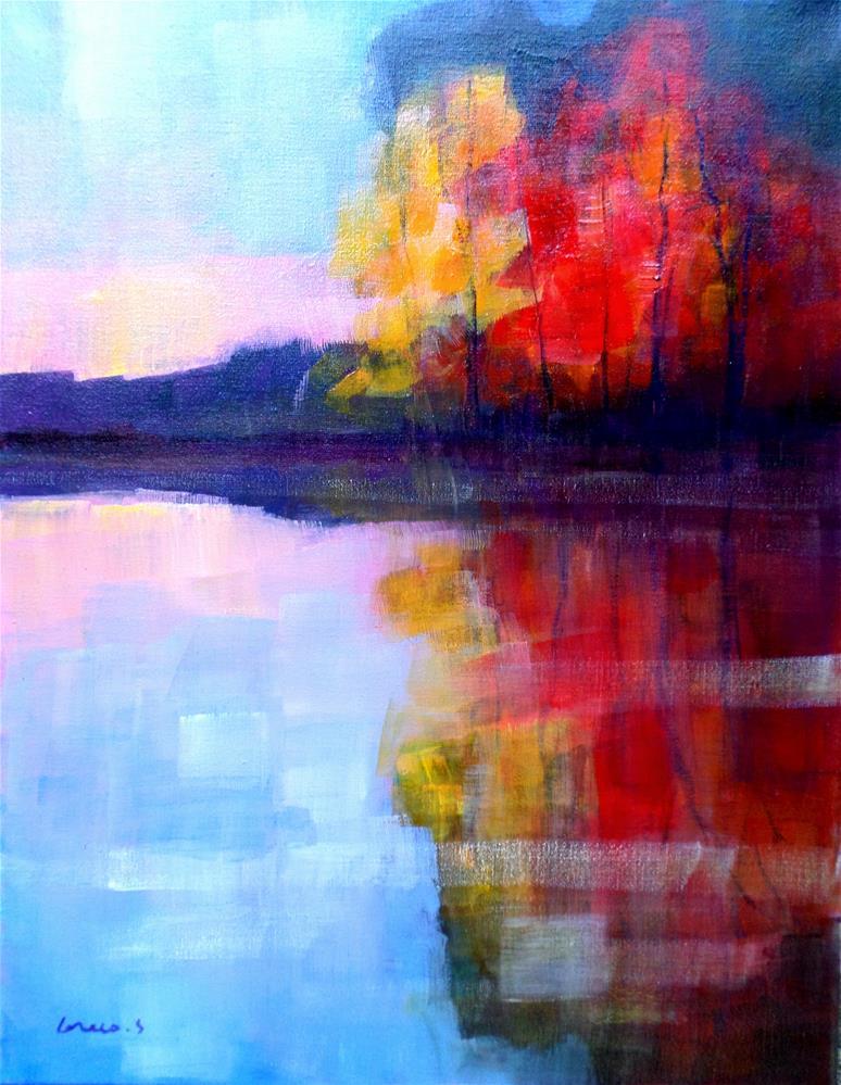 """""""Red reflextion"""" original fine art by salvatore greco"""