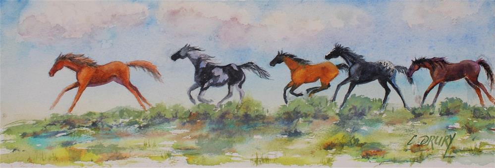 """""""Running Wild"""" original fine art by Colleen Drury"""
