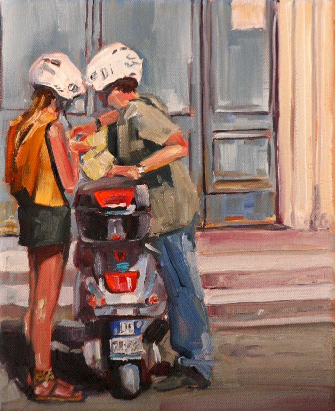 """mapquest"" original fine art by Carol Carmichael"