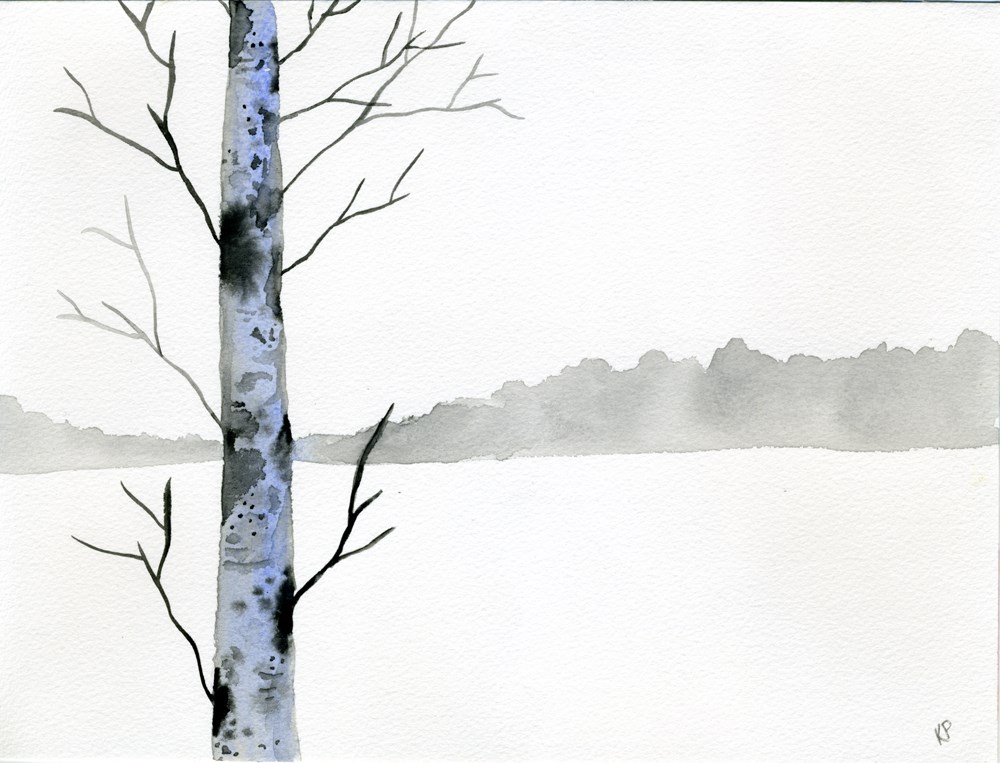 """Winter"" original fine art by Kali Parsons"