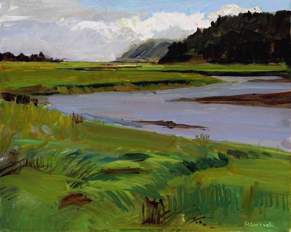 """Copalis River"" original fine art by Gretchen Hancock"