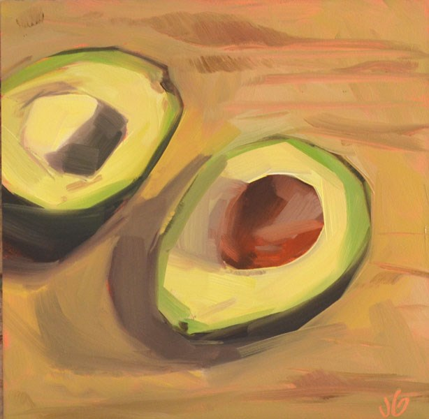 """Avacados"" original fine art by Jessica Green"