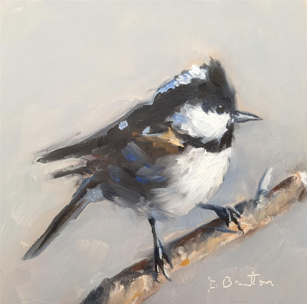 """Coal Tit"" original fine art by Gary Bruton"
