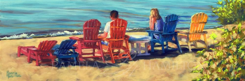 """Down by the Sea"" original fine art by Pamela Hamilton"