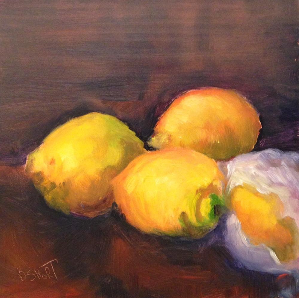 """""""day9; lemons"""" original fine art by Brenda Short"""