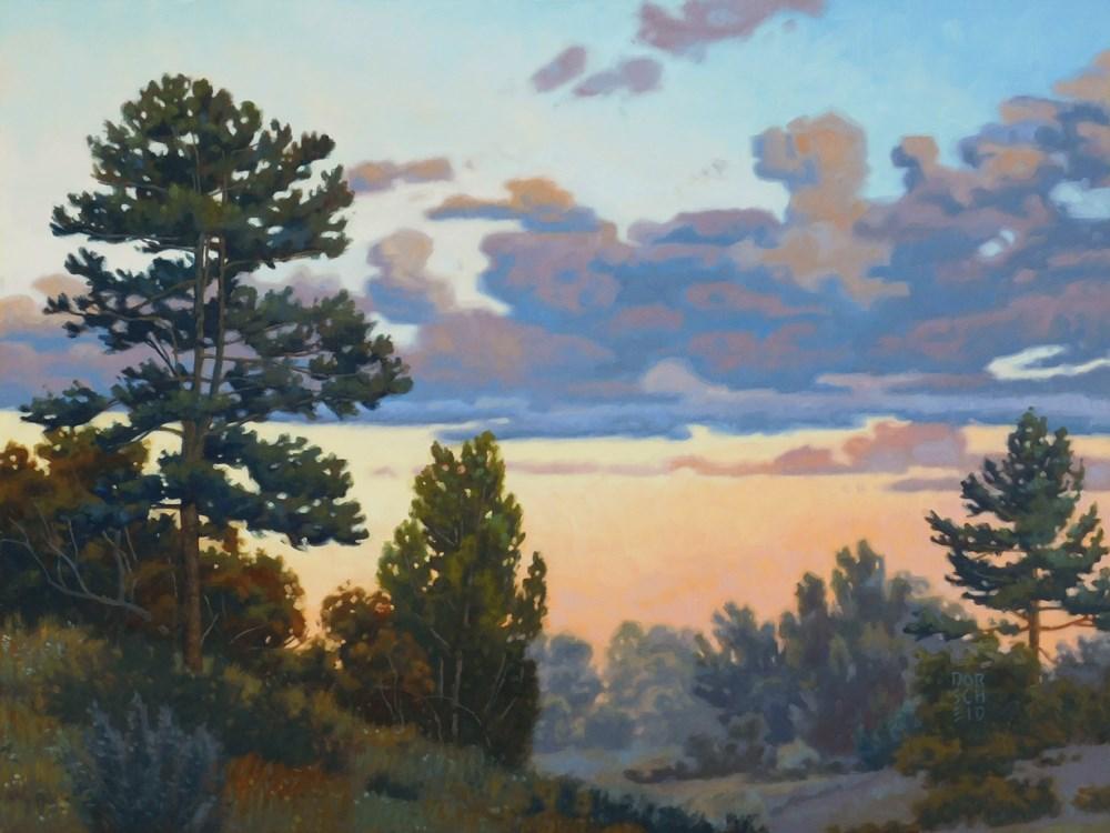 """Two Pines"" original fine art by Les Dorscheid"