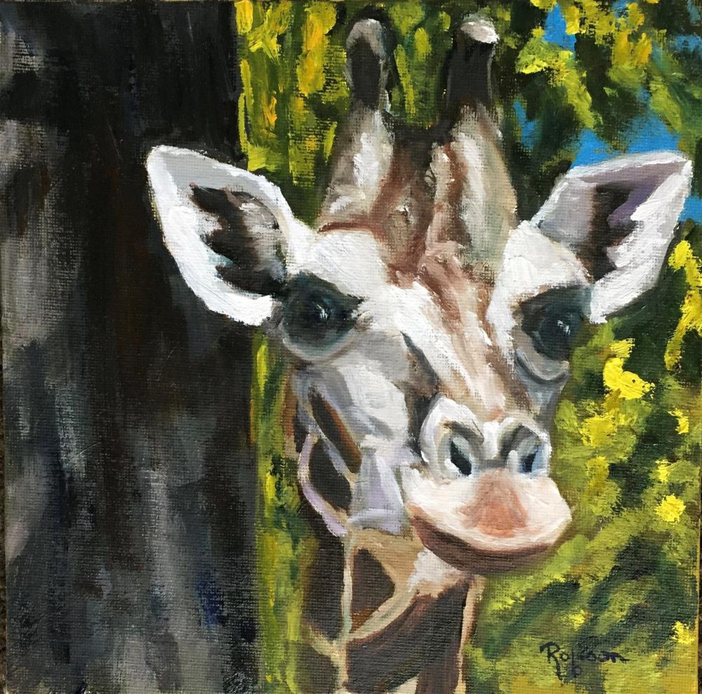 """Peeking Through the Trees"" original fine art by Renee Robison"