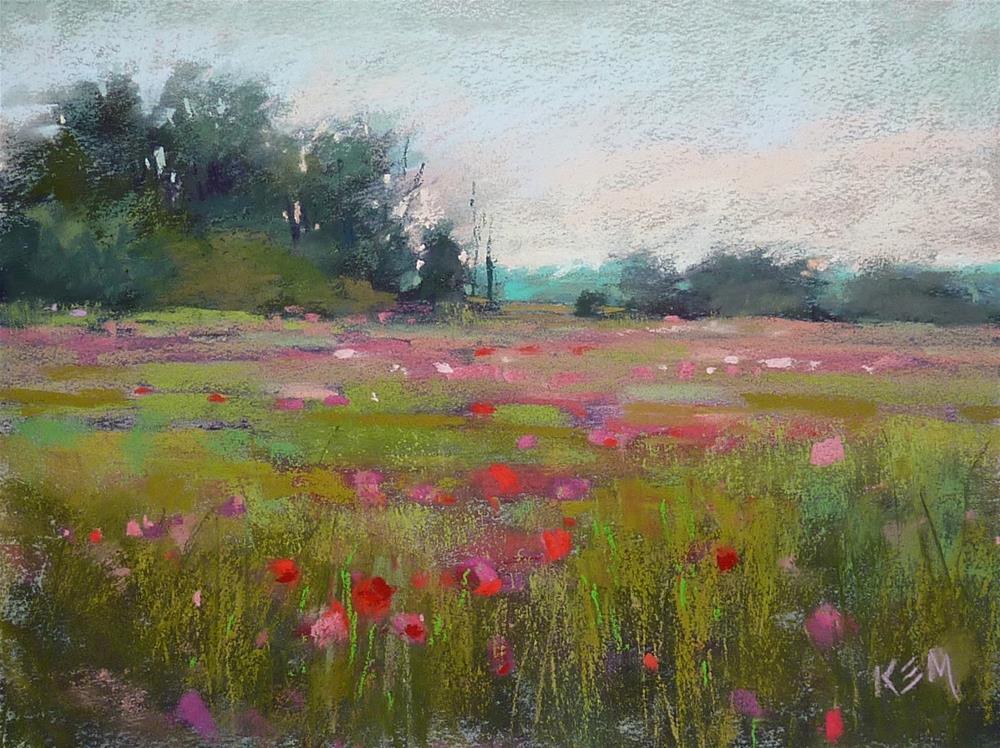 """The Secret to Painting a Believable Meadow"" original fine art by Karen Margulis"