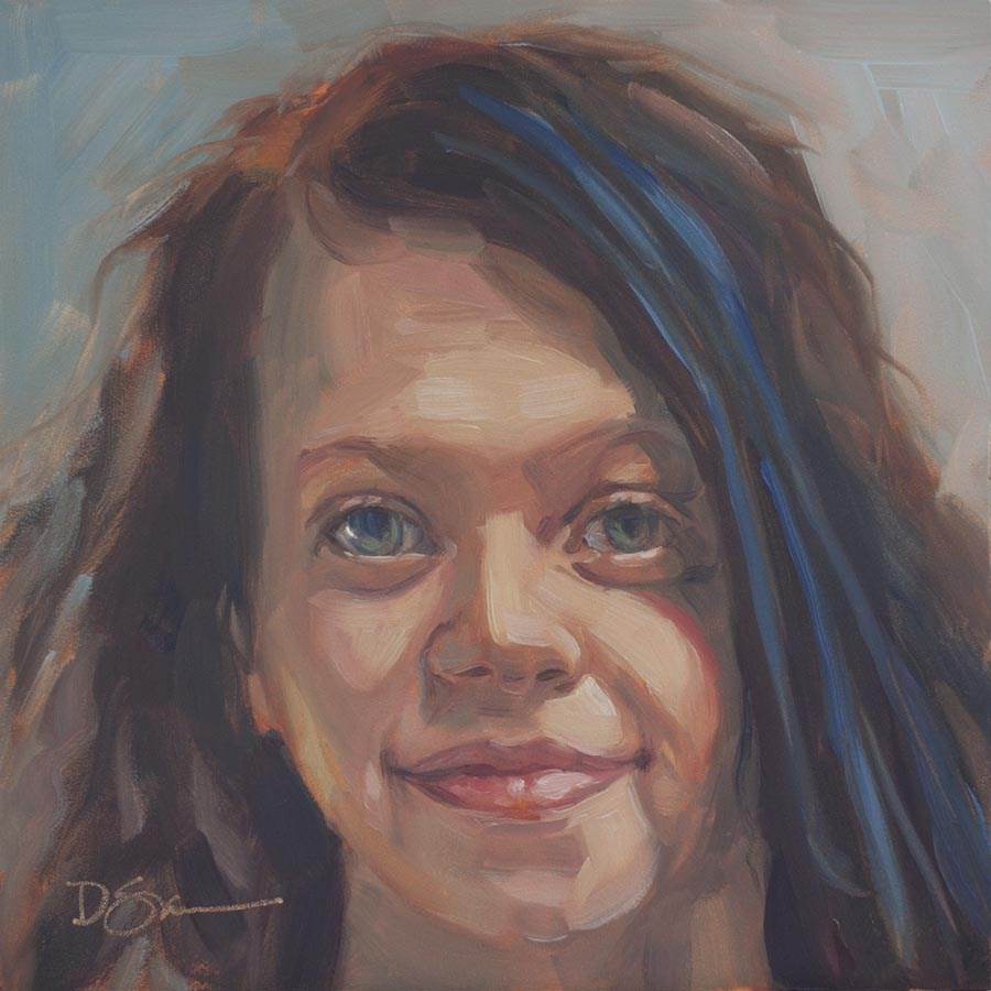 """Eyes of Love No.11 Gloria"" original fine art by Deborah Savo"
