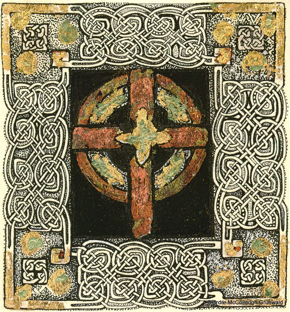 """""""Copper Cross"""" original fine art by Deirdre McCullough Grunwald"""