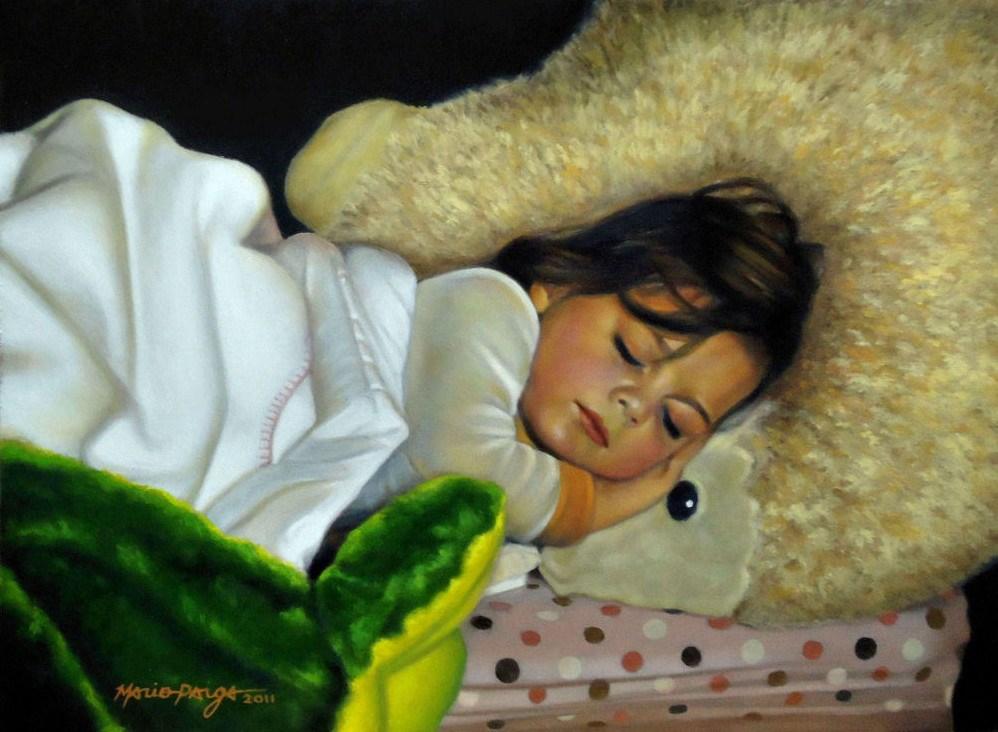 """Lullaby For Skye"" original fine art by Mario Parga"