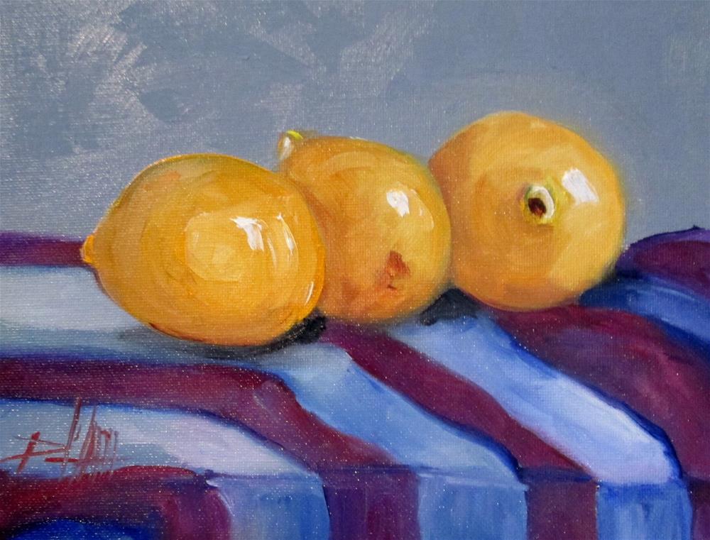"""Three Lemons"" original fine art by Delilah Smith"