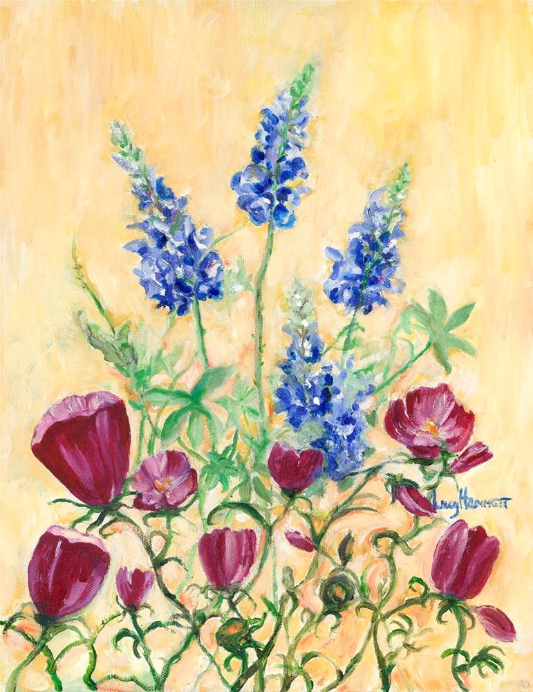 """Texas Wine"" original fine art by Lucy Hammett"