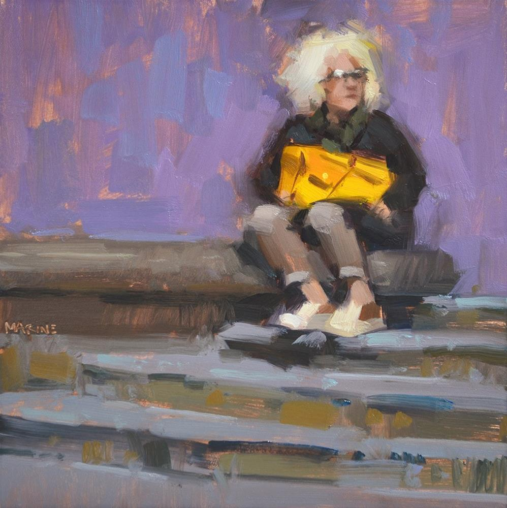 """My Yellow Bag"" original fine art by Carol Marine"