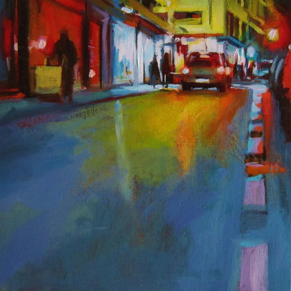 """""""Nocturne #3, Showcase city"""" original fine art by Víctor Tristante"""