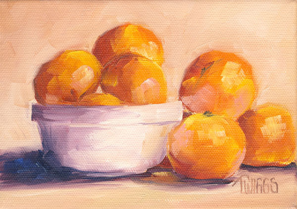 """Clementines 2"" original fine art by Lori Twiggs"