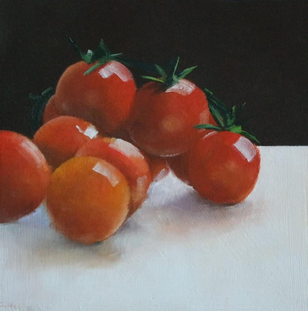"""Tomatoes II"" original fine art by Cathy Holtom"