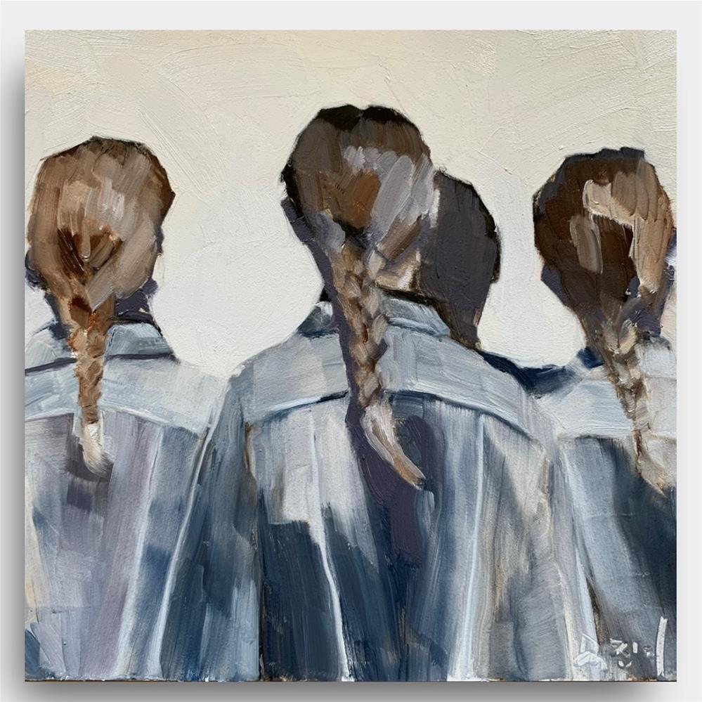 """""""867 Get Together"""" original fine art by Jenny Doh"""