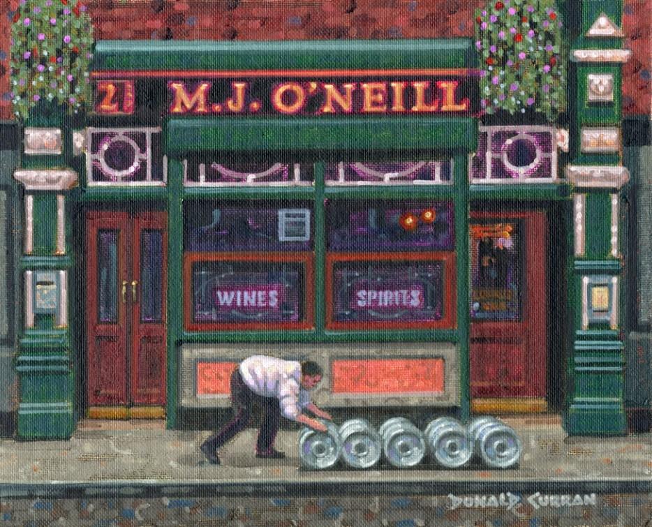 """Roll Out The Barrells"" original fine art by Donald Curran"