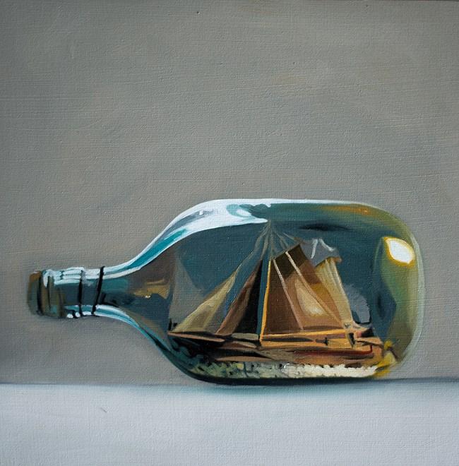 """Ship in a Bottle"" original fine art by Lauren Pretorius"