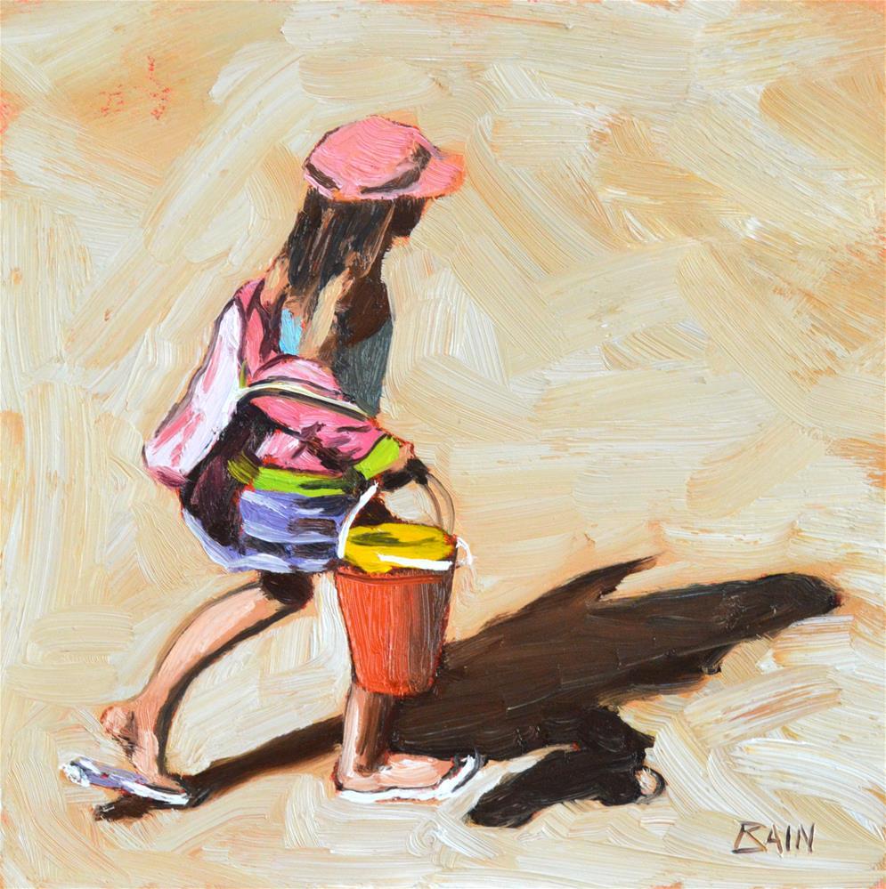 """Across the Sand"" original fine art by Peter Bain"