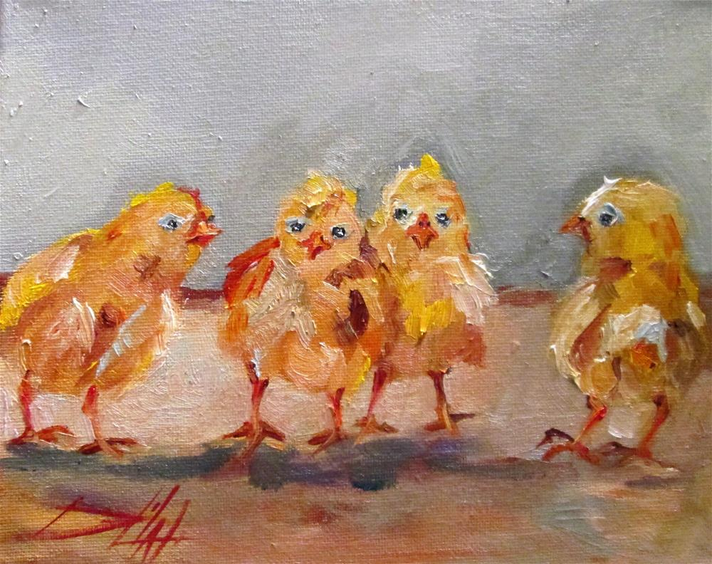 """Chicks"" original fine art by Delilah Smith"