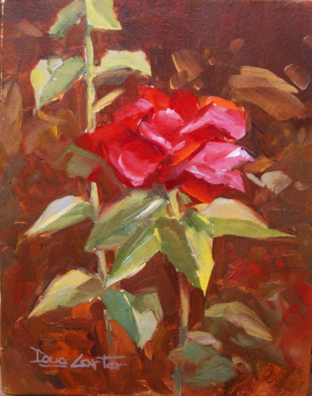 """""""ROSES"""" original fine art by Doug Carter"""