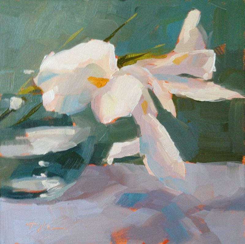 """White Iris"" original fine art by Katia Kyte"