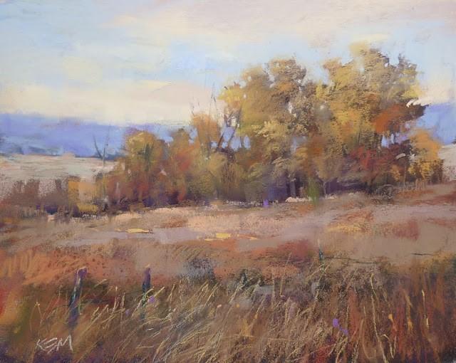 """""""How to Paint an Autumn Sky"""" original fine art by Karen Margulis"""