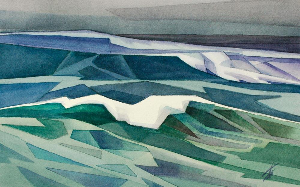 """Wave"" original fine art by Mark Allison"