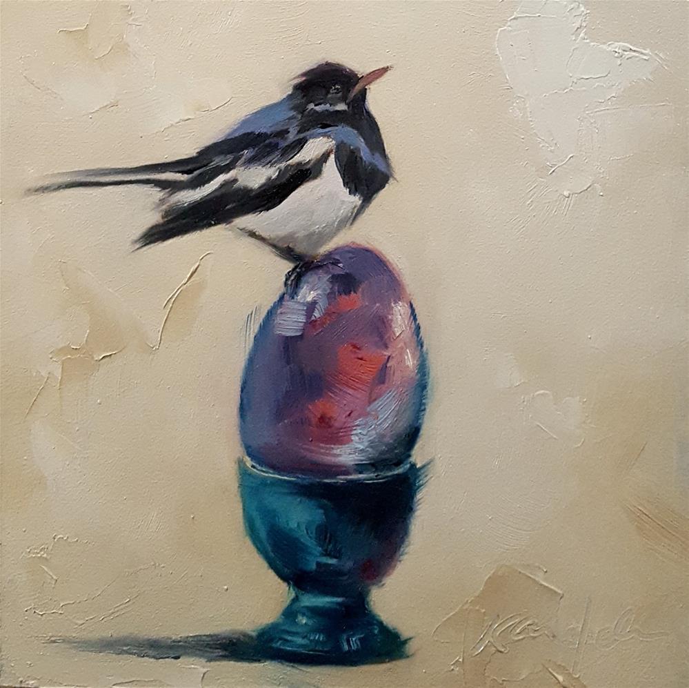 """""""An Ordinary Decent Egg -  C.S. Lewis"""" original fine art by Karen Weber"""