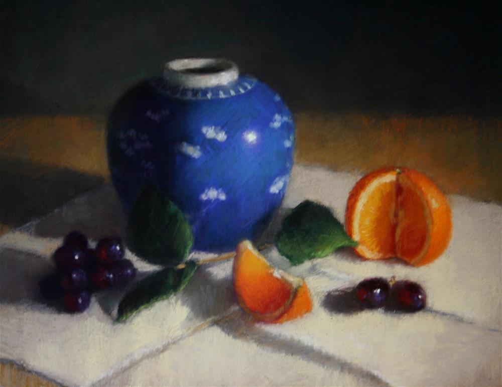 """Blue Ginger Jar"" original fine art by Liz Balkwill"