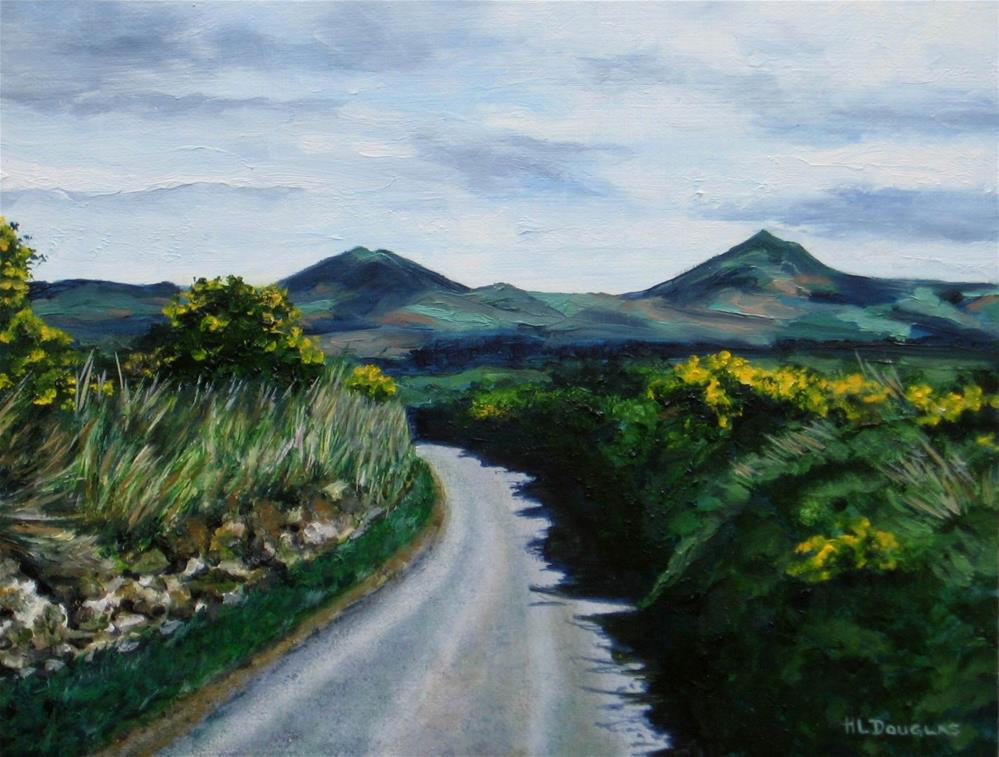 """County Wicklow"" original fine art by Heather Douglas"