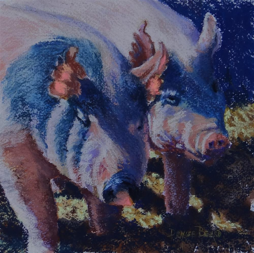 """Two Little Pigs, II"" original fine art by Denise Beard"