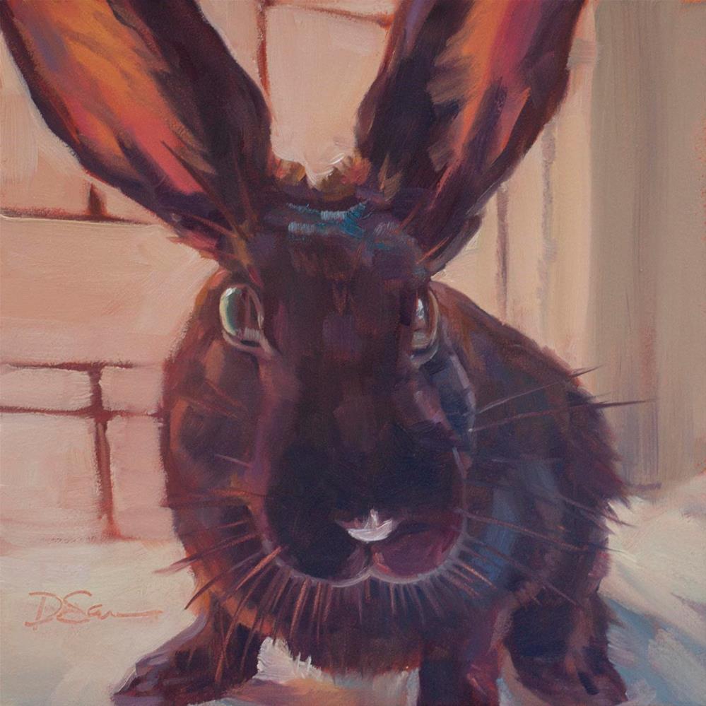 """Eyes of Love No.9 Monty Belle"" original fine art by Deborah Savo"