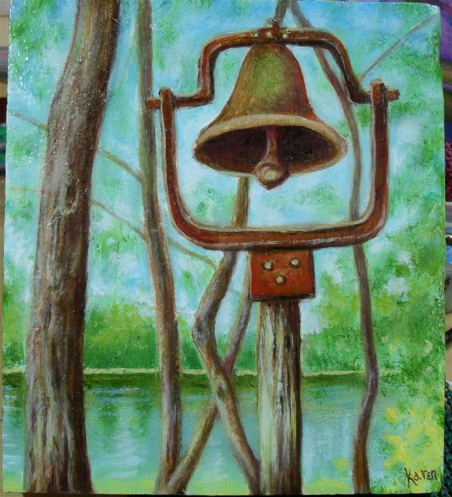 """Dinner Bell"" original fine art by Karen Roncari"