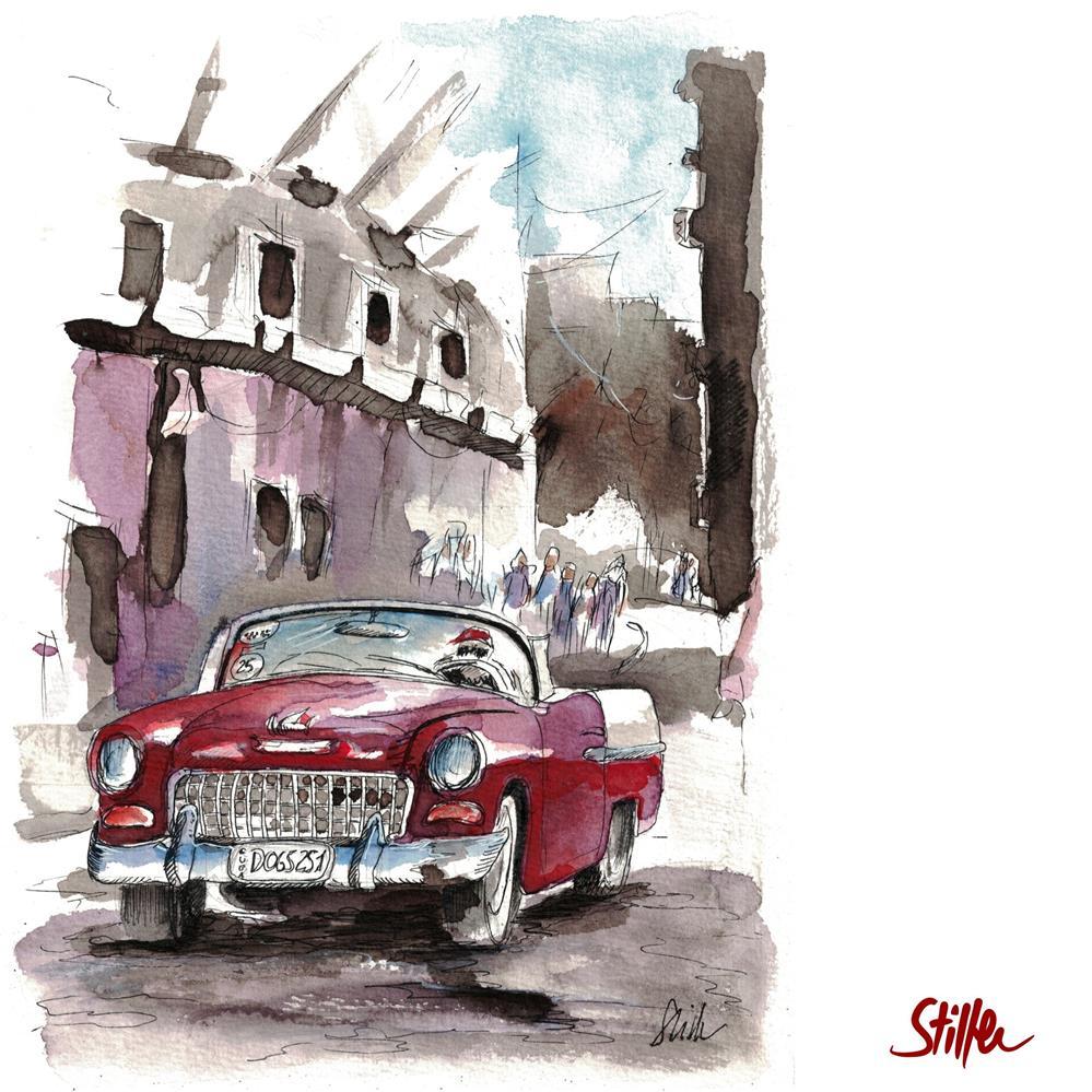 """""""3616 CubaCar"""" original fine art by Dietmar Stiller"""