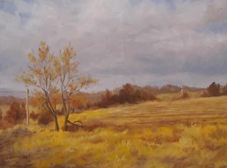 """""""68 - Off Wilson Road"""" original fine art by Edward Watson"""