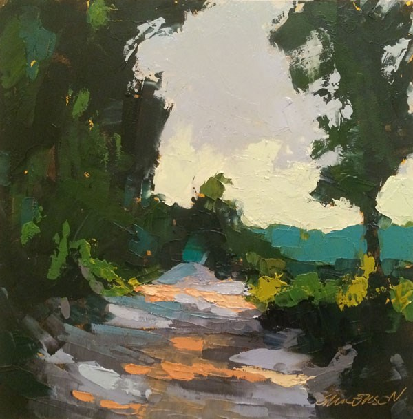 """Summer Backroad"" original fine art by Mary Gilkerson"