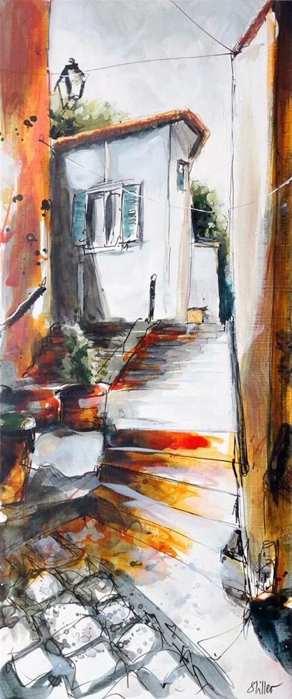 """2945 Stairpainting 2"" original fine art by Dietmar Stiller"