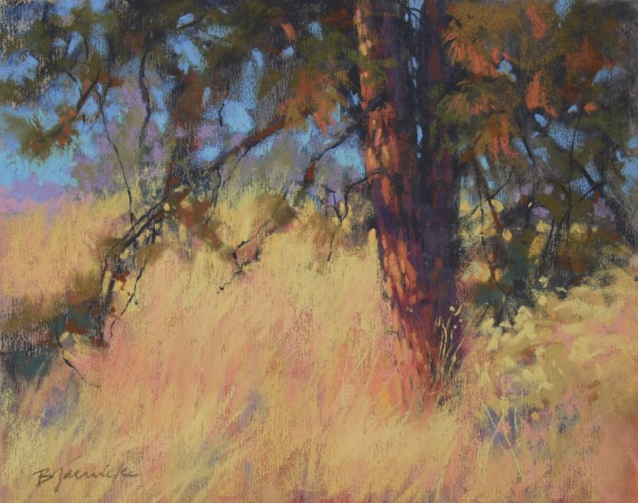 """""""October Light"""" original fine art by Barbara Jaenicke"""