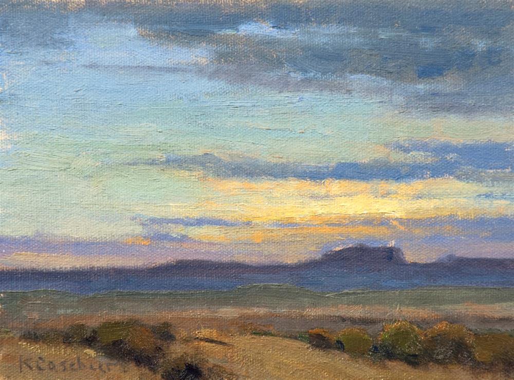 """New Mexico Landscape"" original fine art by Kim Casebeer"
