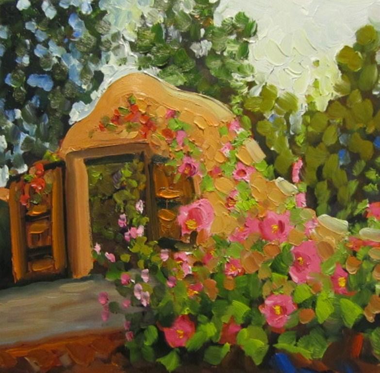 """GATE TO HEAVEN"" original fine art by Dee Sanchez"