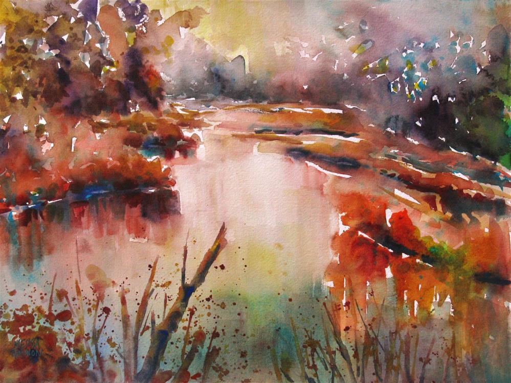 """Wetland"" original fine art by Melissa Gannon"